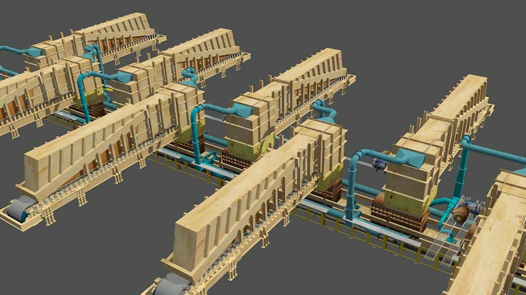 Control de material particulado para tuneles feeder stock pile Laguna Seca - Minera Escondida