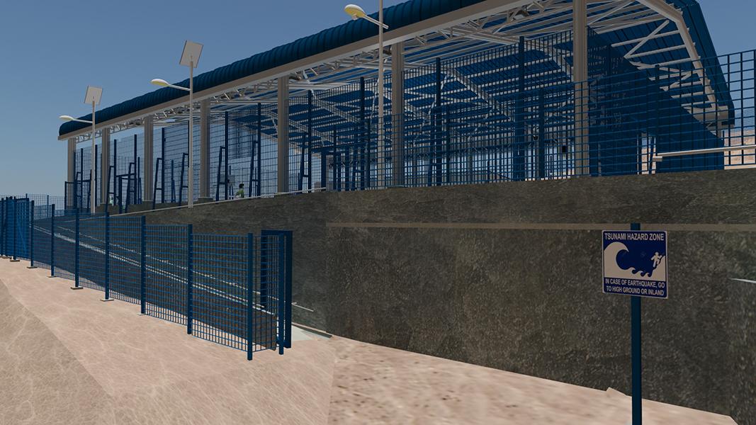 Multicancha poblado de coloso Antofagasta - Fundación Minera Escondida