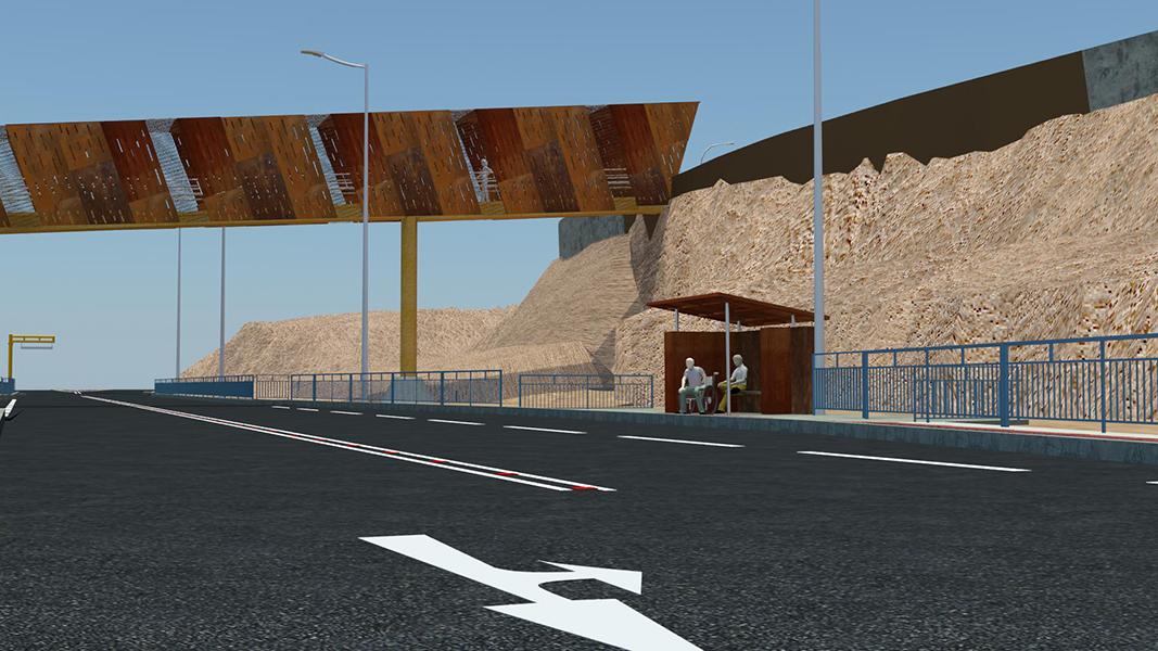 Obras de tránsito seguro para poblado de Coloso - Fundación Minera Escondida