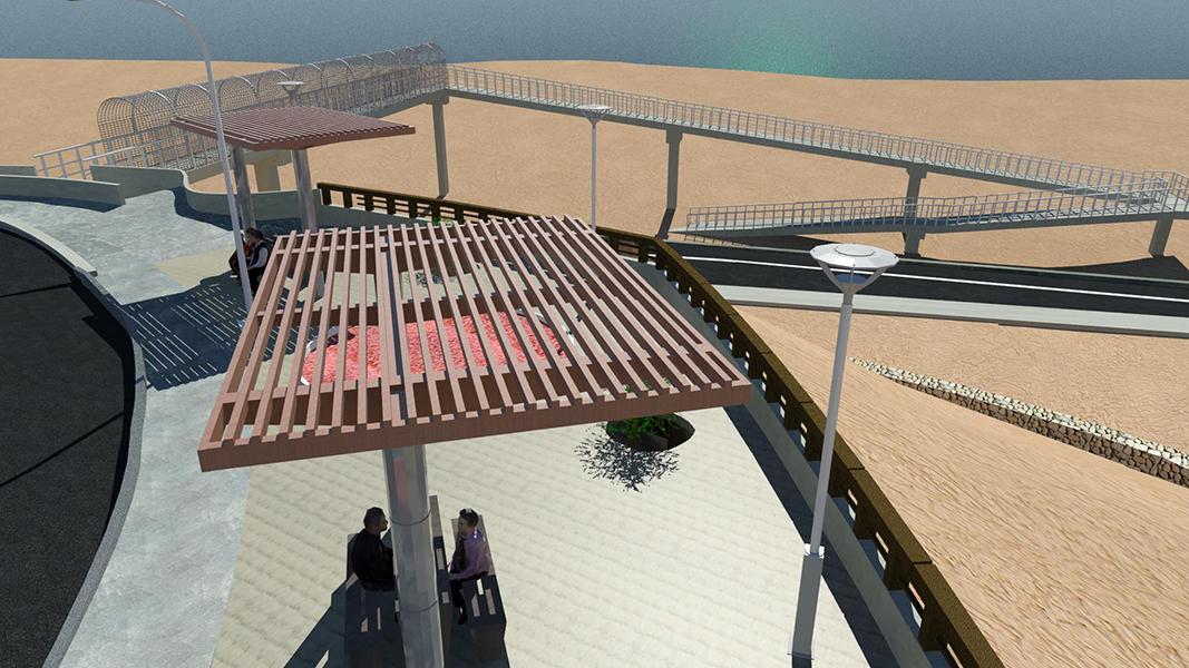 Pasarelas de tránsito para poblado de Coloso, Antofagasta - Fundación Minera Escondida