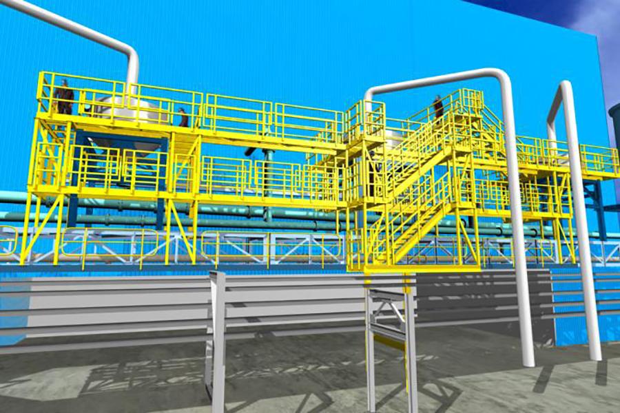 Plataformas de acceso a desaireadores para planta de filtros, Coloso - Minera Escondida