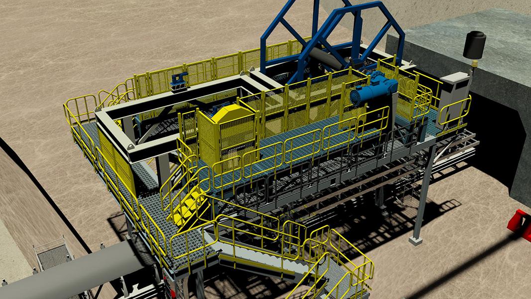 Porta carretes de 500m para planta concentradora OGP1 - Minera Escondida
